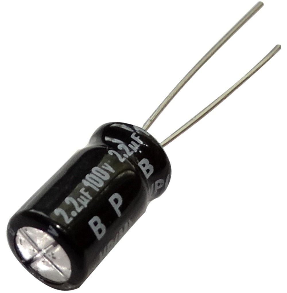 10x Condensateur chimique /électrolytique bipolaire 2.2/µF /± 20/% 100V THT 85/°C 2000h /Ø6.3x11mm radial Aerzetix