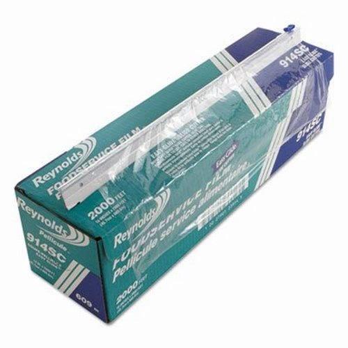 Reynolds Wrap PVC Film Roll w/Cutter Box, 18'' x 2000 ft, Clear - Includes one roll per case. by Reynolds Wrap