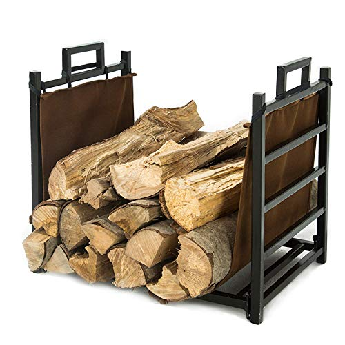 LITHER 18inch Small Decorative Indoor/Outdoor Firewood Racks Log Rack, Special