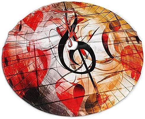Myrdora Árbol de Navidad Falda Corazones Notas Musicales Música ...