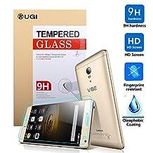 Lenovo Vibe P1 Screen protector, KuGi ® Ultra-thin 9H Hardness High Quality HD clear Premium Tempered Glass Screen Protector for Lenovo Vibe P1 5.5 inch smartphone. (1 pcs)