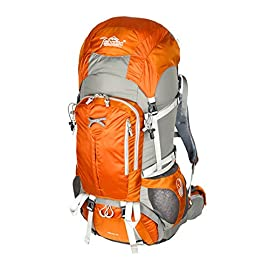 Timberline Merak 55L 3356ci Internal Frame Hiking Backpack (Orange)