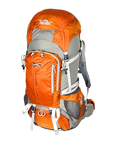 Timberline Merak 55L 3356ci Internal Frame Hiking Backpack (Orange)
