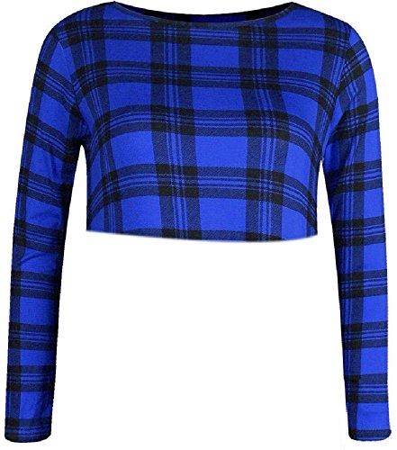My Fashion Store - Camiseta de manga larga - para mujer azul cobalto
