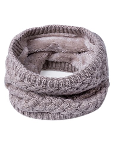 Neck Warmer (EVRFELAN Infinity Scarf Winter Women Circle Loop Scarves Warm Kids Neck Warmer Chunky Knit Soft Thick Fashion Ladies Accessories Ribbed Girls Men Boy Collar (Khaki))
