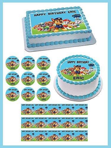 Paw Patrol 6 Edible Cupcake Toppers 1 8 Cupcake 20 Pieces Sheet
