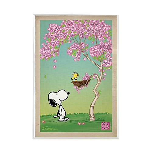 - CafePress Woodstock In The Cherry Blossoms Rectangle Magnet, 2