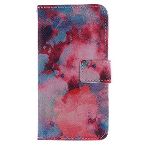 LG G2 Case, Easytop Fashion Design Premium PU Leather Wallet Fleible Stand Flip Protective Cover Case, with Built-in Credit Card ID Card Slots Cash Pocket Magnetic Closure (Be (Lg G2 Phone Case Magnetic)