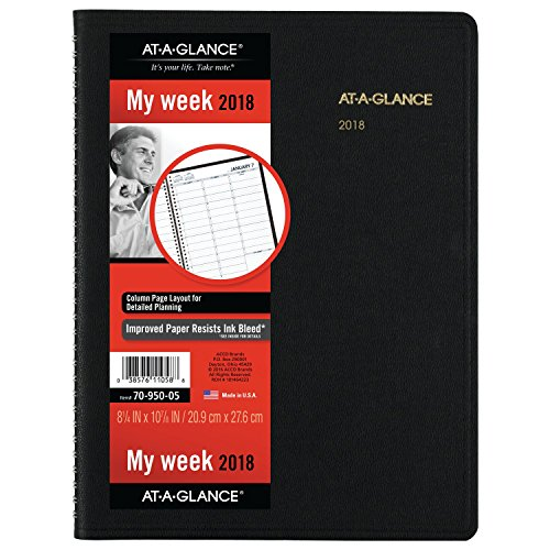 at-A-Glance Weekly Appointment Book/Planner, January 2018 - January 2019, 8-1/4