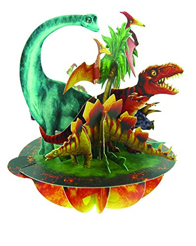 Santoro Pirouettes 3D Pop Up Card, Jurassic Dinosaurs