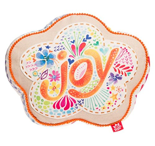 Flower Shaped Pillow - Joy Watercolor Floral Flower Shaped 15