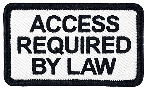 Small Woven Patch (Small ACCESS REQUIRED BY LAW Sew-on Service Dog Woven Patch - 2.5
