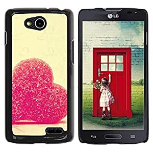 LECELL -- Funda protectora / Cubierta / Piel For LG OPTIMUS L90 / D415 -- Love Candy Heart --