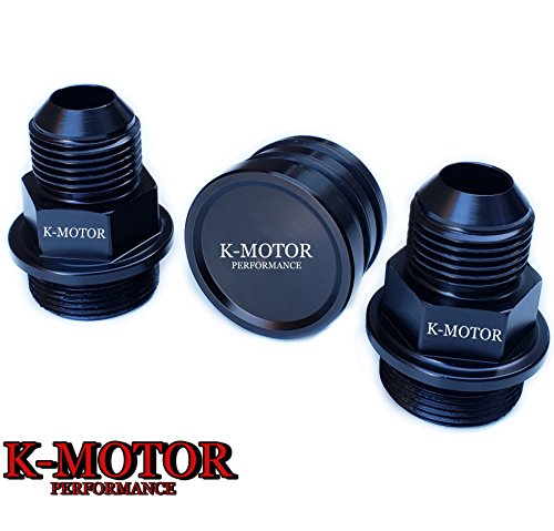 BLACK REAR BLOCK BREATHER FITTINGS AND PLUG FOR B16 B18C CATCH CAN M28 TO (Honda B18c Motor)