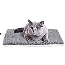 Cangfort Indoor Pet Bed Warmer Electric Heated Warming Pad with Chew Resistant Cord Removable Waterproof Cover