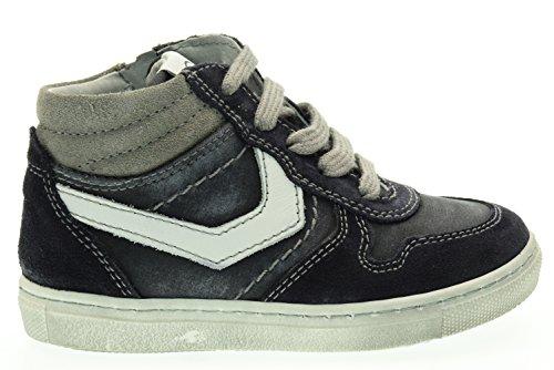 NEGRO JARDINES secundaria altas zapatillas de deporte A623990M / 200 (23/26) Blu-bianco
