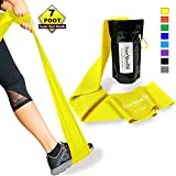 SUPER EXERCISE BAND X Light YELLOW Resistance Band. Your Home Gym Fitness Equipment Kit for Strength Training, Physical Therapy, Rehab or Chair Workouts | LATEX FREE For ALLERGIC SAFETY | 7 ft