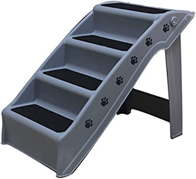 Plástico Escaleras De Mascotas Plegable Escaleras Del Animal Doméstico Antideslizante Fácil Limpieza 4 Pasos Escalera De Cama Para Mascotas Ligero Sofá Cama Escalera-gris 62x38.5x48.5cm(24x15x19inch): Amazon.es: Bricolaje y herramientas