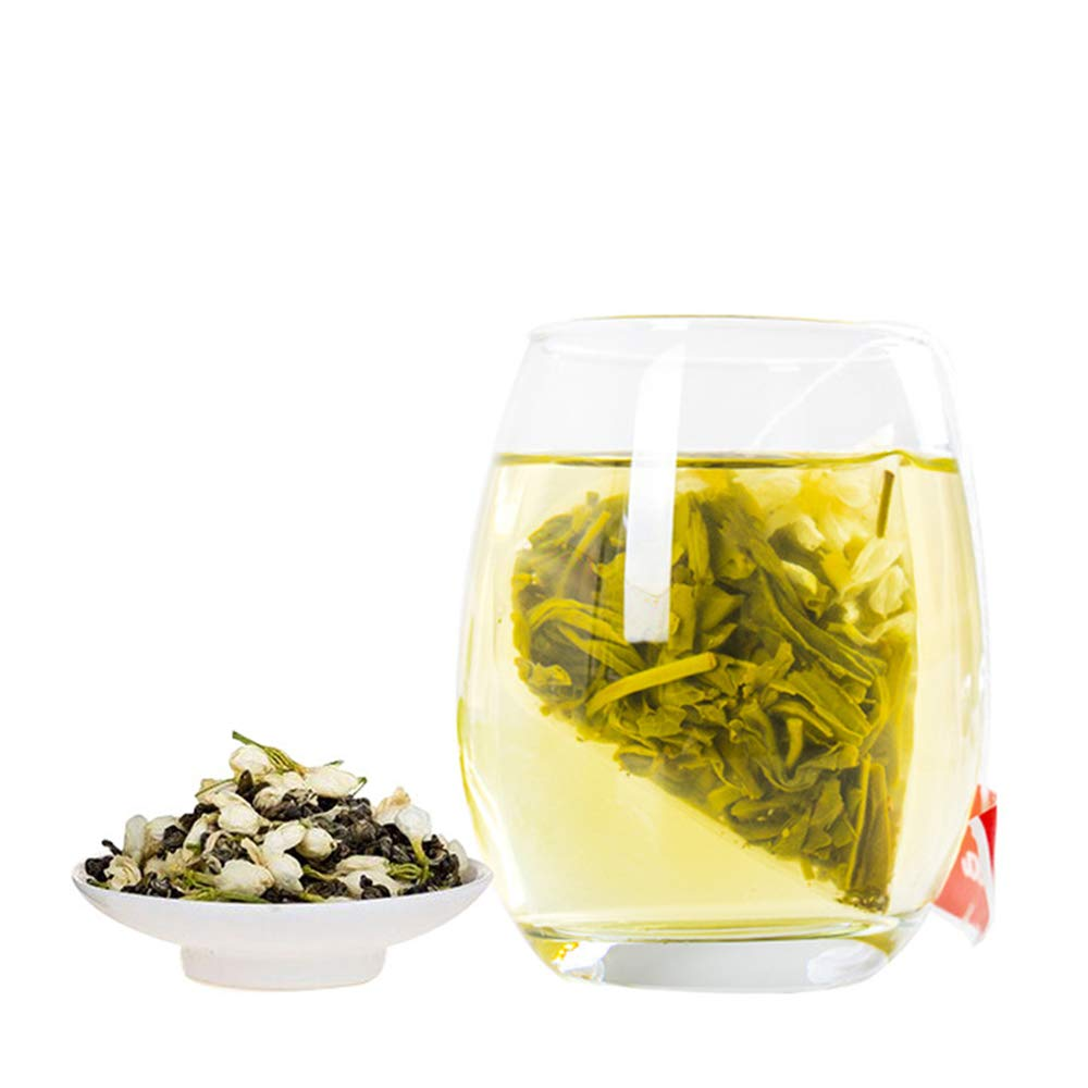 Yan Hou Tang - Organic Taiwanese Jasmine Green Tea bags - 50 Counts Flower Flavor Taste Sugar Free Loose Spice Leaf for Detox Weight Loss relaxation and stress reduction relief SGS FDA Verified