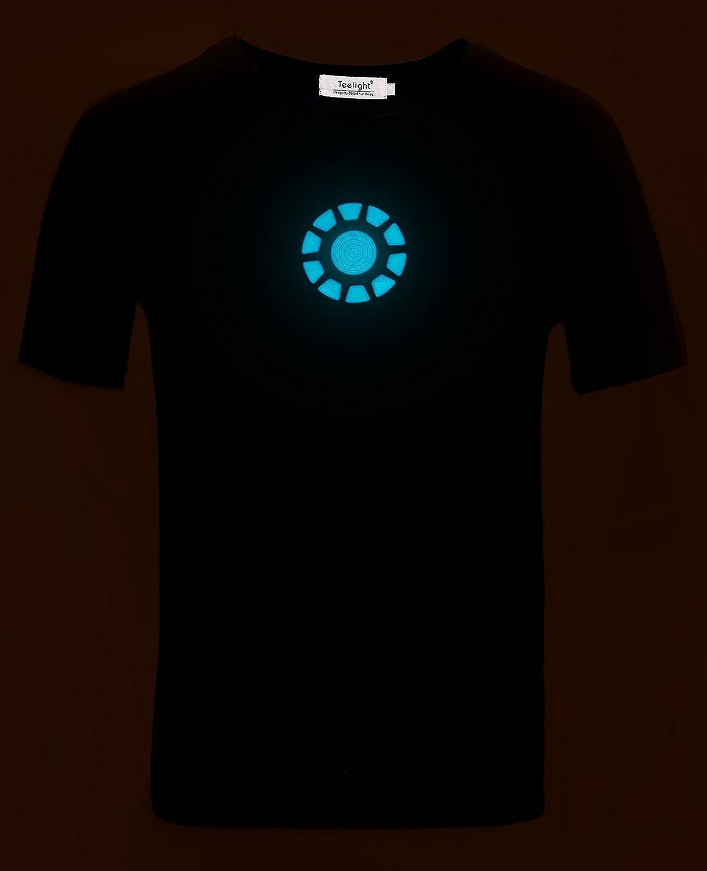Amazon.com: Tony Stark Light-Up Arc Reactor LED Iron Man 1 Black T ...
