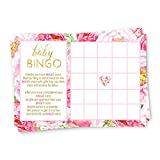 Floral Baby Shower Bingo Game Card (25 Pack)