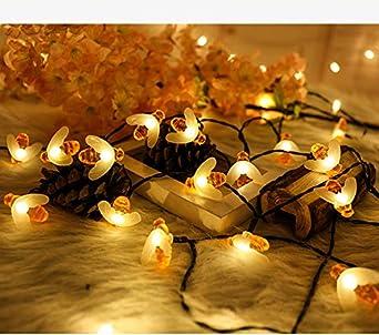 Guirnalda de luces para habitación de niñas, batería o USB, bolas de algodón para decoración de Navidad, para dormitorio, interior y exterior, 20 unidades, 4 m: Amazon.es: Iluminación