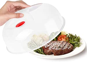 2Pack Microwave Plate Cover,Microwave cover for food BPA Free Dishwasher Safe (10.5Inch)