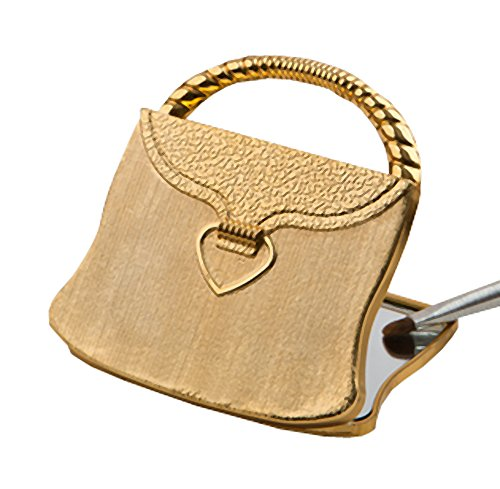 Mirror Shaped Compact Purse - Elegant Reflections Collection Gold Purse Compact Mirror (40)