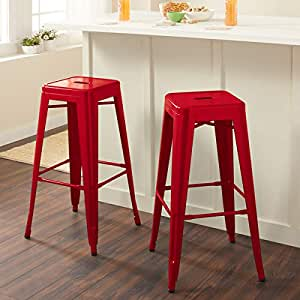 Amazon Com Set Of Two Tabouret 3503 30 30 Inch Backless