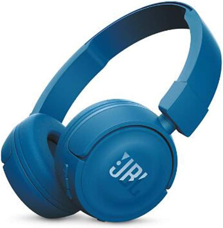 ROWEQPP JBL T450BT Wireless Bluetooth Headphones On-Ear Headset with Mic Noise Canceling Call & Music Controls Blue