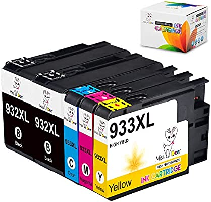 5 Ink Cartridge NON-OEM for HP 932XL 933XL Officejet 6100 6600 6700 7110 7610