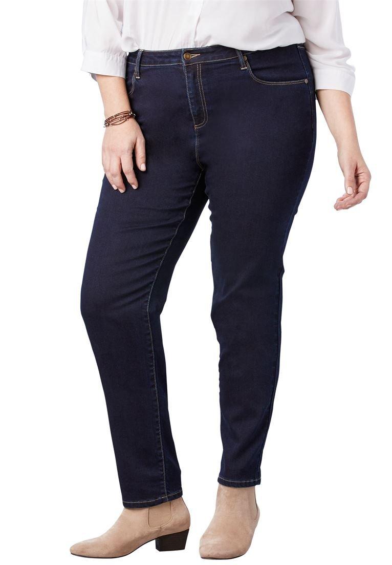 Woman Within Women's Plus Size Perfect Straight Leg Jean