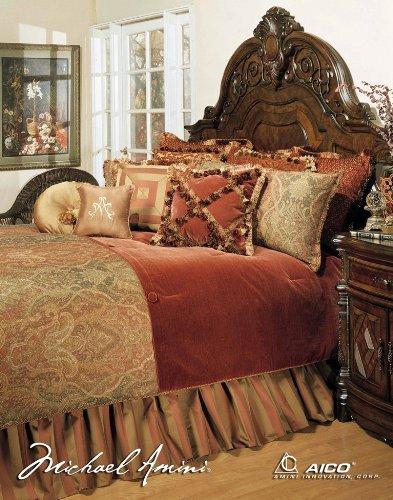 AICO Michael Amini 12 Piece Woodside Park Comforter Set, ...