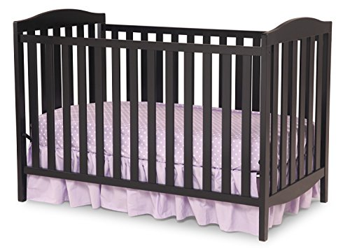 Delta-Children-Capri-3-in-1-Crib-and-Simmons-Kids-BeautySleep-Crib-and-Toddler-Mattress-White