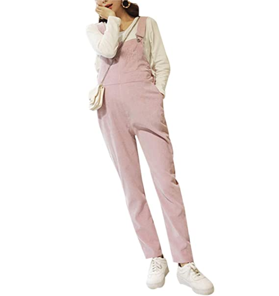 dd93379e65c7 zhbotaolang Salopette da Gravidanza Bavaglino Tuta - Bretelle per Pantaloni  Donne Vestiti Premaman Cintura Regolabile Autunno