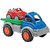 American Plastic Toys Gigantic Car Hauler with Tilting Truck Bed
