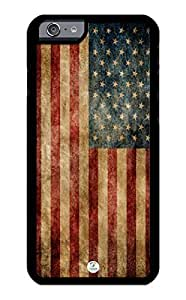 iZERCASE iPhone 6 PLUS Case American Flag USA RUBBER CASE - Fits iPhone 6 PLUS T-Mobile, Verizon, AT&T, Sprint and International