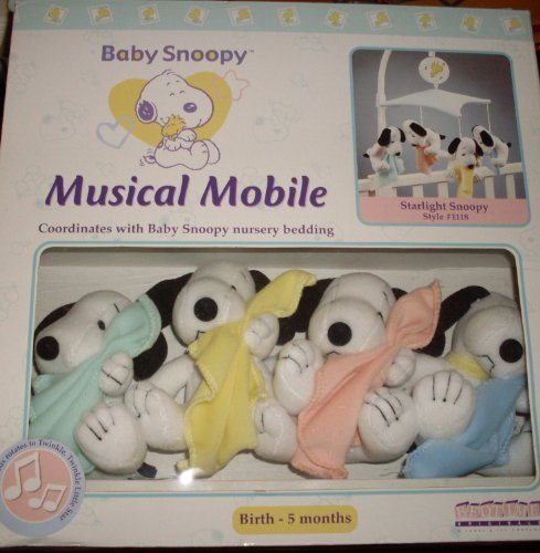 (Baby Snoopy Nursery Mobile - Lambs & Ivy - My Little Snoopy - Blankets)