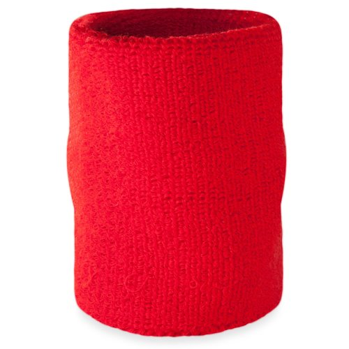 Suddora Arm Sweatband - Athletic Cotton Armband for Sports (Red)