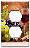 Art Plates Brand Electrical Outlet Wall / Switch Plate - Wine & Cheese
