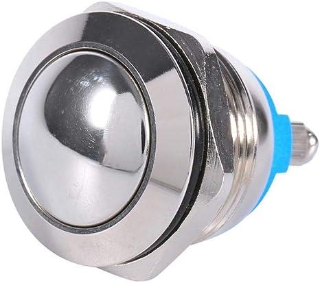 Etanche 24V 8mm Inox Métal Momentané Poussoir Bouton Interrupteur Voiture BA
