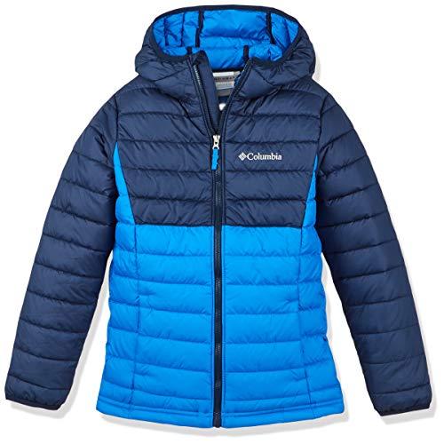 Columbia Boys Hooded Ski Jacket, Powder Lite, Blue (Super Blue, Collegiate...