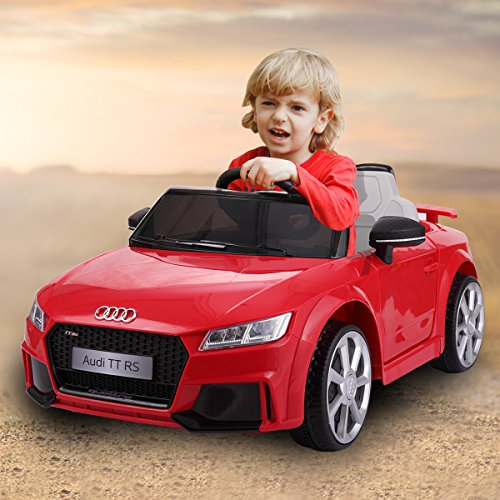 LAZYMOON Audi TT RS Kids 12V Ride On Car Electric Battery