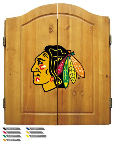 Imperial Officially Licensed NHL Merchandise: Dart Cabinet Set with Steel Tip Bristle Dartboard and Darts, Boston Bruins ()