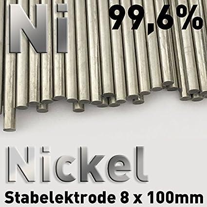 Ánodo de níquel, varilla de níquel 8 x 100 mm, ánodo de la varilla