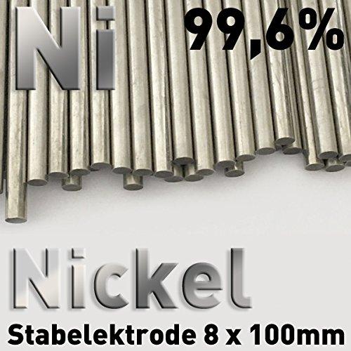 nickel /électrode pour galvanoplastie 10 cm nickel anode Nickel Tige 8 x 100 mm