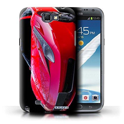 STUFF4 Phone Case / Cover for Samsung Galaxy Note 2 / 458/Bonnet Design / Ferrari Collection