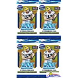 2018 Score NFL Football Lot of FOUR(4) Factory Sealed Packs with 48 Cards! Loaded with ROOKIES & INSERTS! Look for RCS & Autographs of Baker Mayfield, Sam Darnold, Saquon Barkley & Many More! WOWZZER!