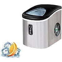 Machine à glace, acier inoxydable porte-glaçons, 150 W, capacité 11-13 kg 24 h, entre 6 et 9 minutes, 2 tailles de glaçons