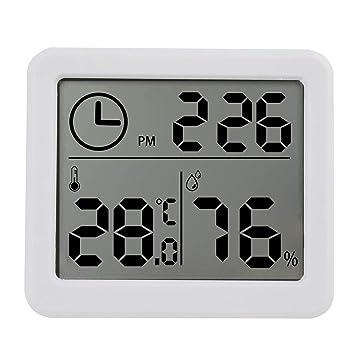 Webla - Termómetro electrónico e higrómetro LCD de 3,2 pulgadas, temperatura digital, humedad, contador, reloj, termómetro de cocina: Amazon.es: Bricolaje y ...